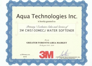 3M Water Softener Award
