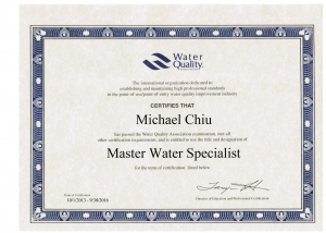 MICHAEL CHIU MASTER WATER SPECIALIST